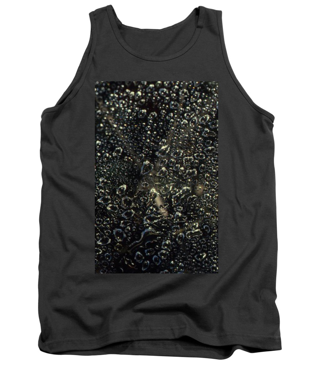 Creek Tank Top featuring the photograph Black Bubbles by Forrest Prater