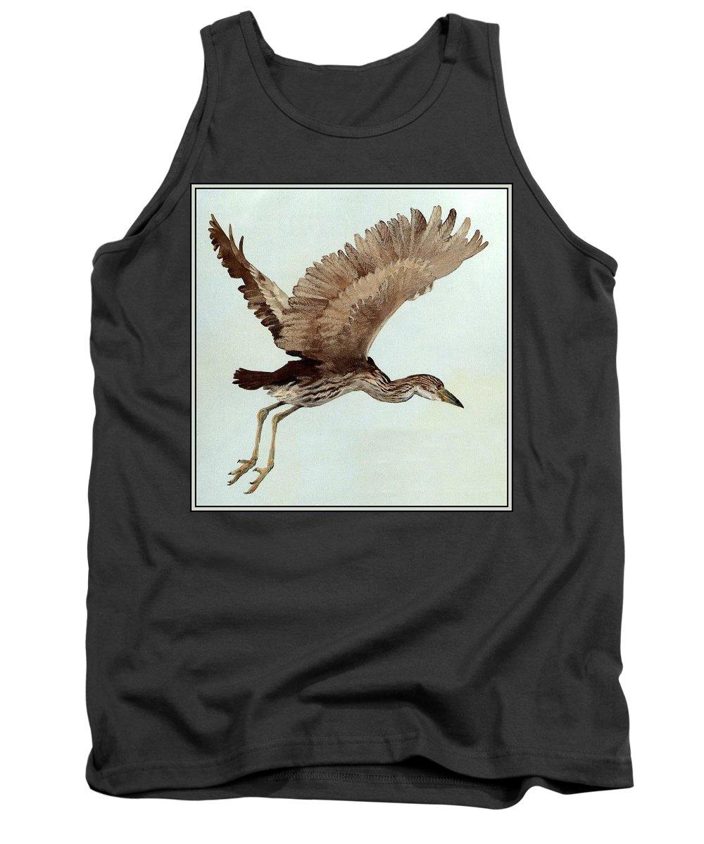 Wildlife Tank Top featuring the digital art Black Crowned Night Heron 3junenile Roger Bansemer by Eloisa Mannion