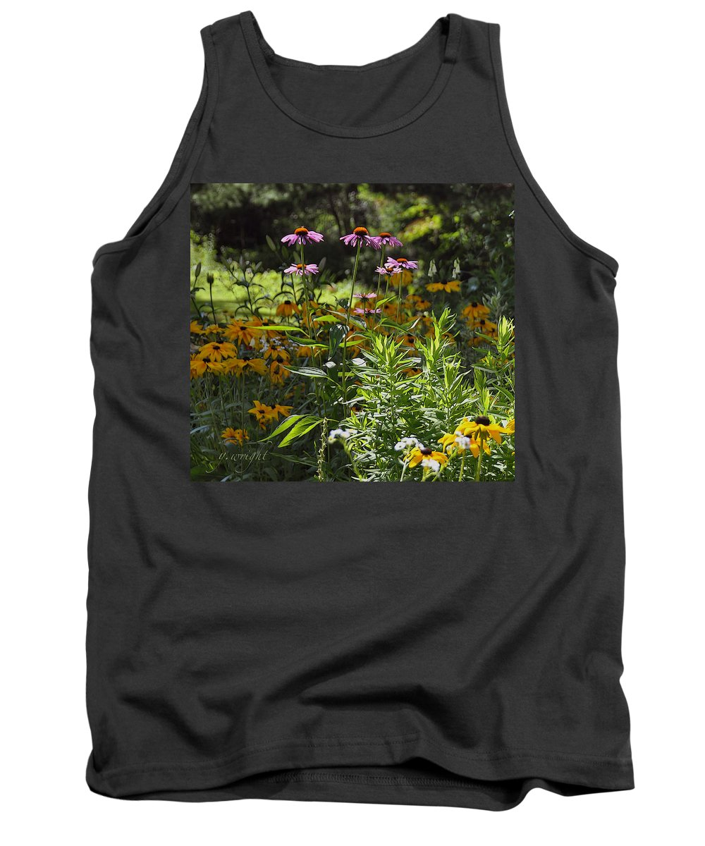Flowers Tank Top featuring the photograph The Field Of Flowers by Yvonne Wright