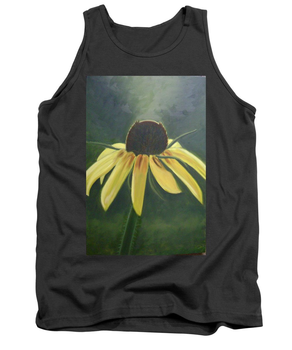 Flower Tank Top featuring the painting Black Eyed Susan by Toni Berry