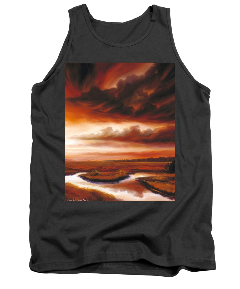 Contemporary Tank Top featuring the painting Black Fire by James Christopher Hill