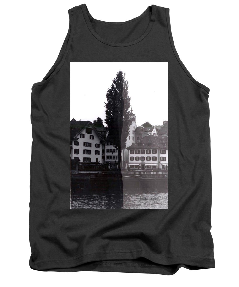 Black And White Tank Top featuring the photograph Black Lucerne by Christian Eberli