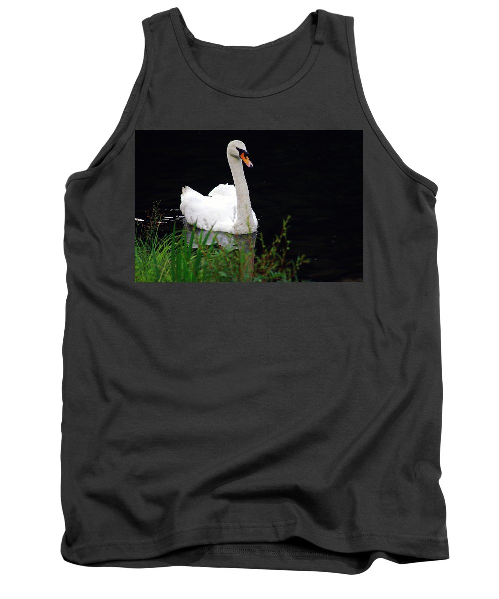 Swan Tank Top featuring the photograph Black Mountain Swan by James Harris