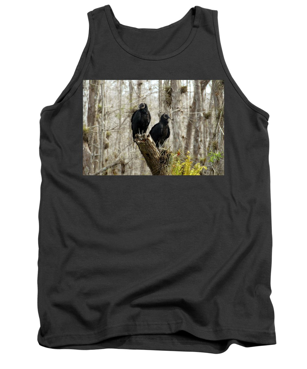 Black Vultures Tank Top featuring the photograph Black Vultures by David Lee Thompson