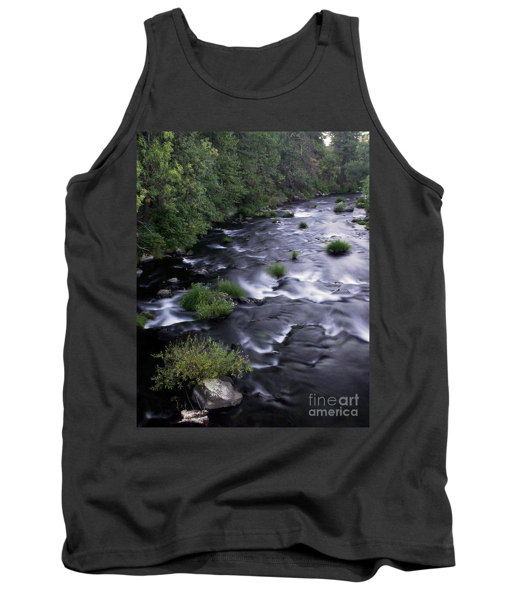 River Tank Top featuring the photograph Black Waters by Peter Piatt