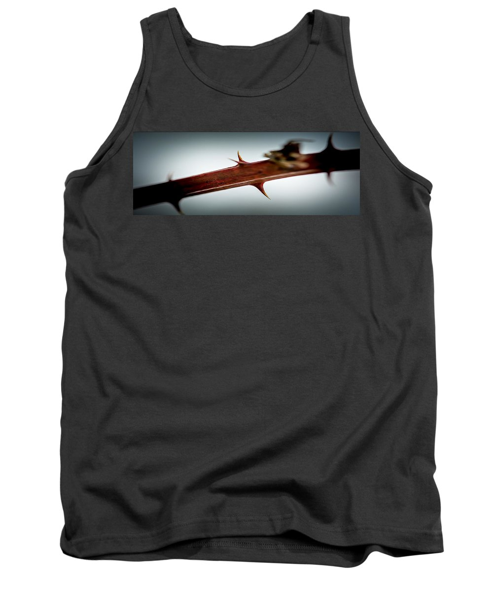 Blackberry Tank Top featuring the photograph Blackberry Thorns by Sherman Perry