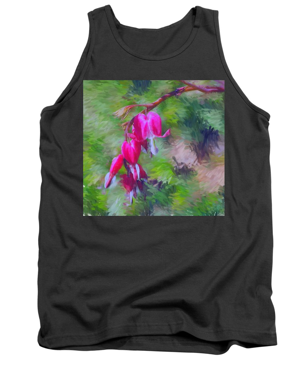 Daffodil Tank Top featuring the photograph Bleeding Heart by David Lane
