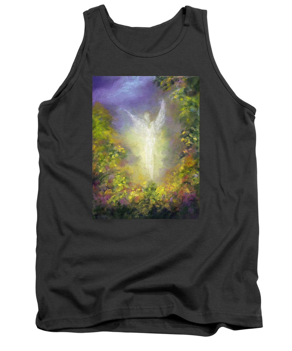 Angel Tank Top featuring the painting Blessing Angel by Marina Petro