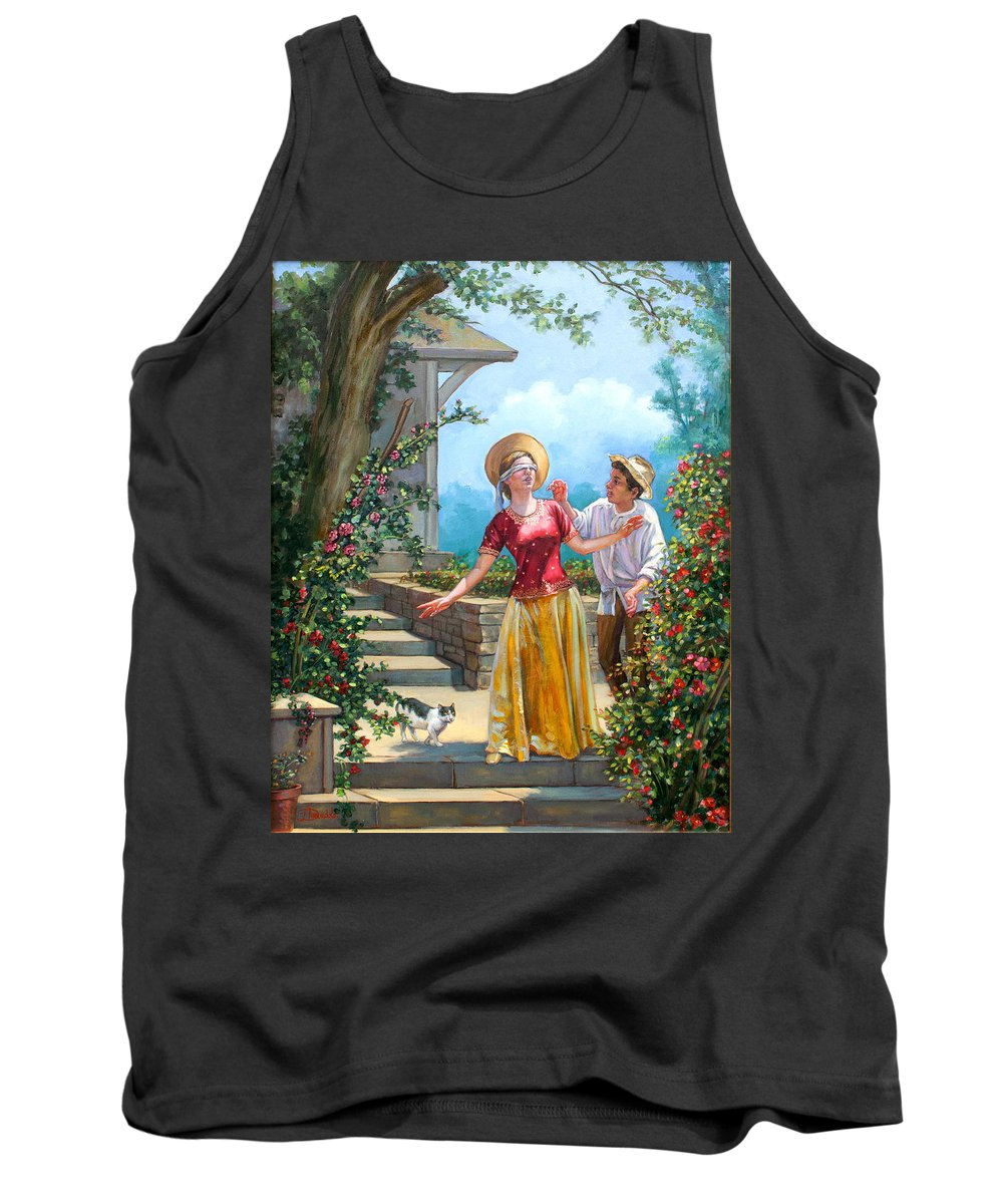 Love Tank Top featuring the painting Blind Man's Buff by Dominique Amendola