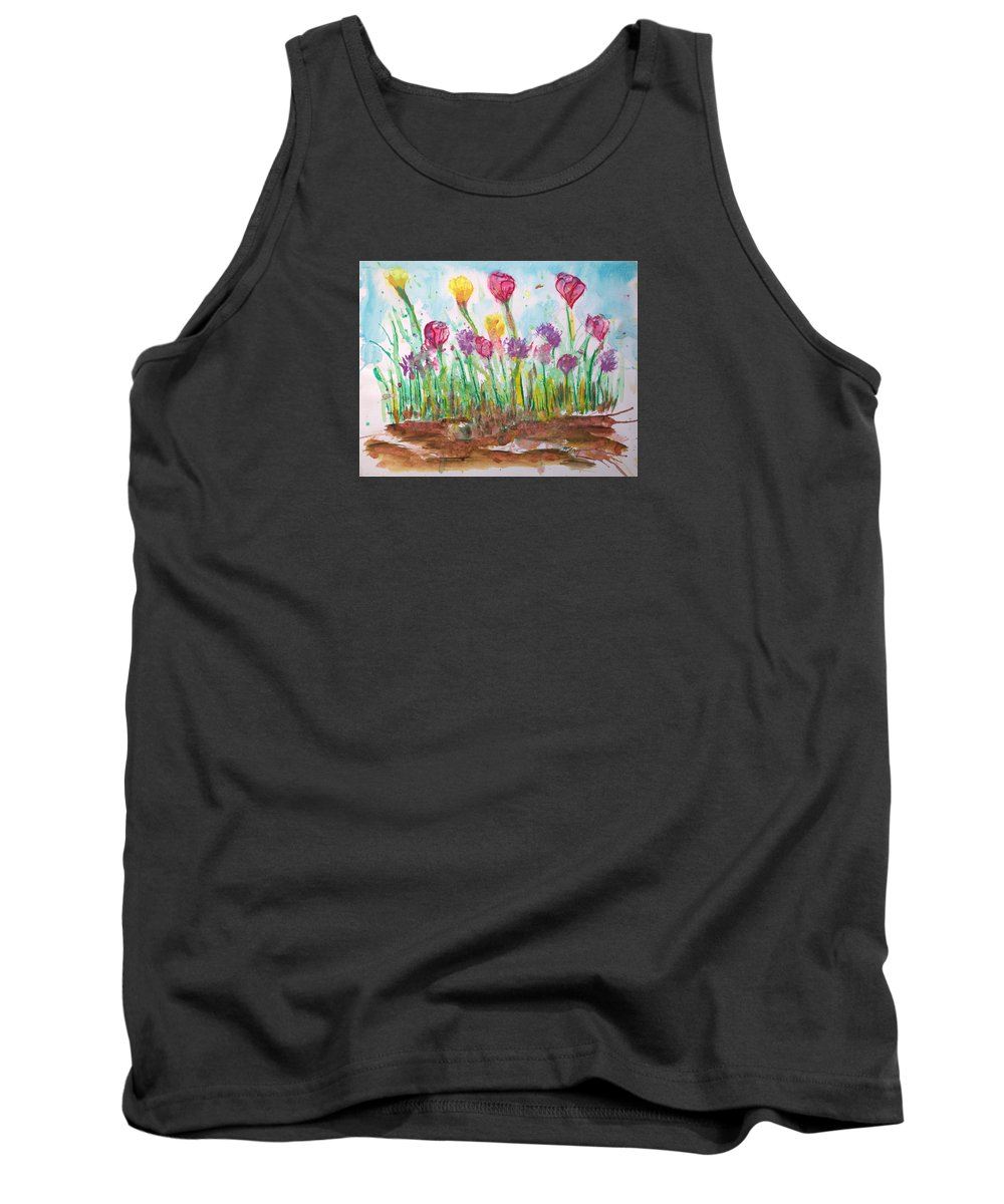 Flowers Tank Top featuring the painting Blooming Colors by J R Seymour