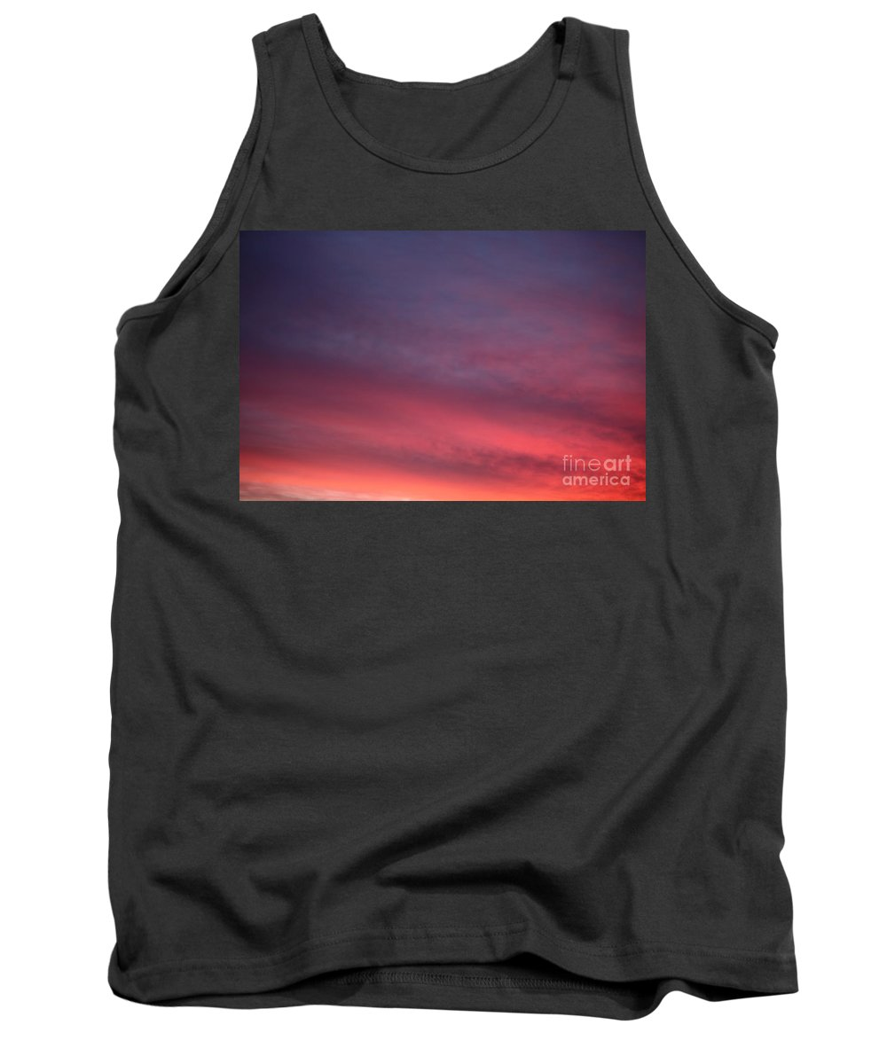 Sunset Tank Top featuring the photograph Blue And Orange Sunset by Nadine Rippelmeyer