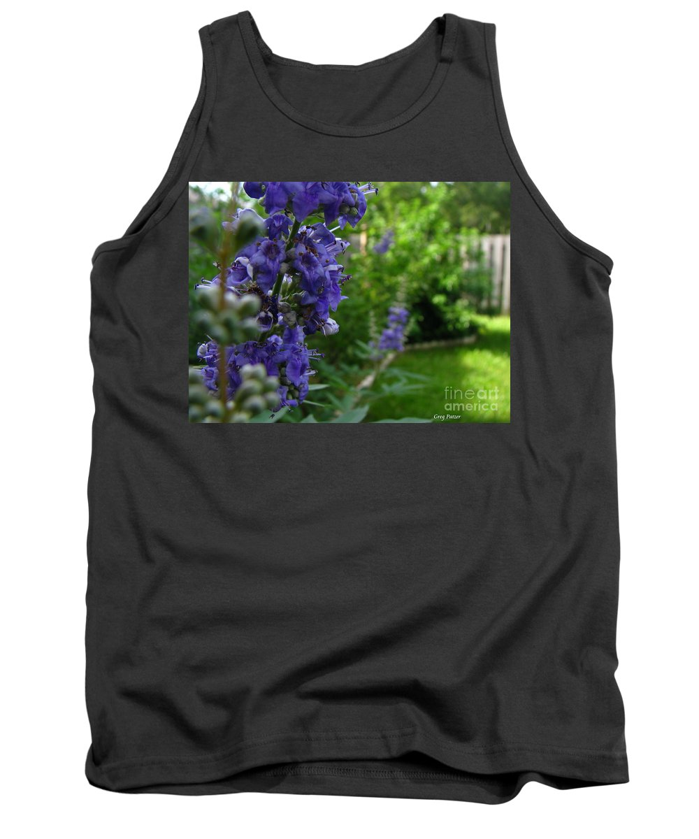 Art For The Wall...patzer Photography Tank Top featuring the photograph Blue Butterfly by Greg Patzer
