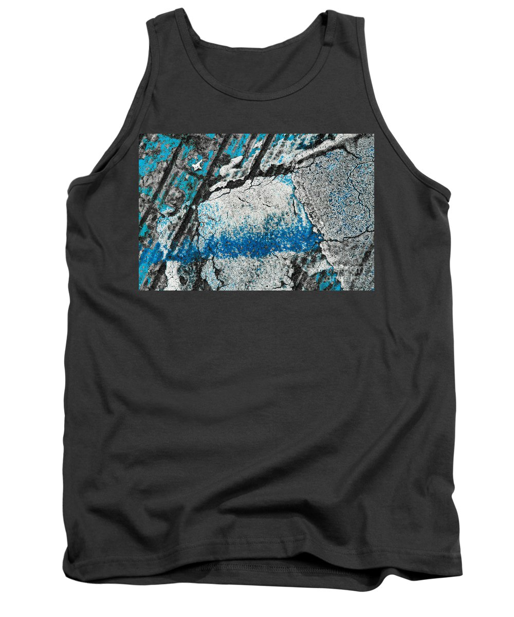 Abstracts Tank Top featuring the photograph Blue Canyons Colliding by Marilyn Cornwell