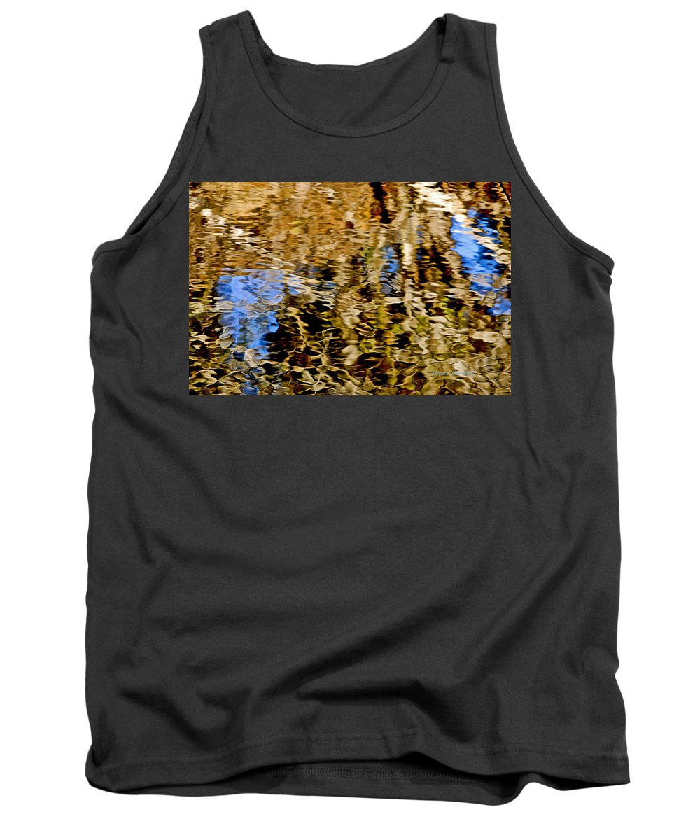 Water Tank Top featuring the photograph Blue Eyes Crying In The Rain by Donna Blackhall