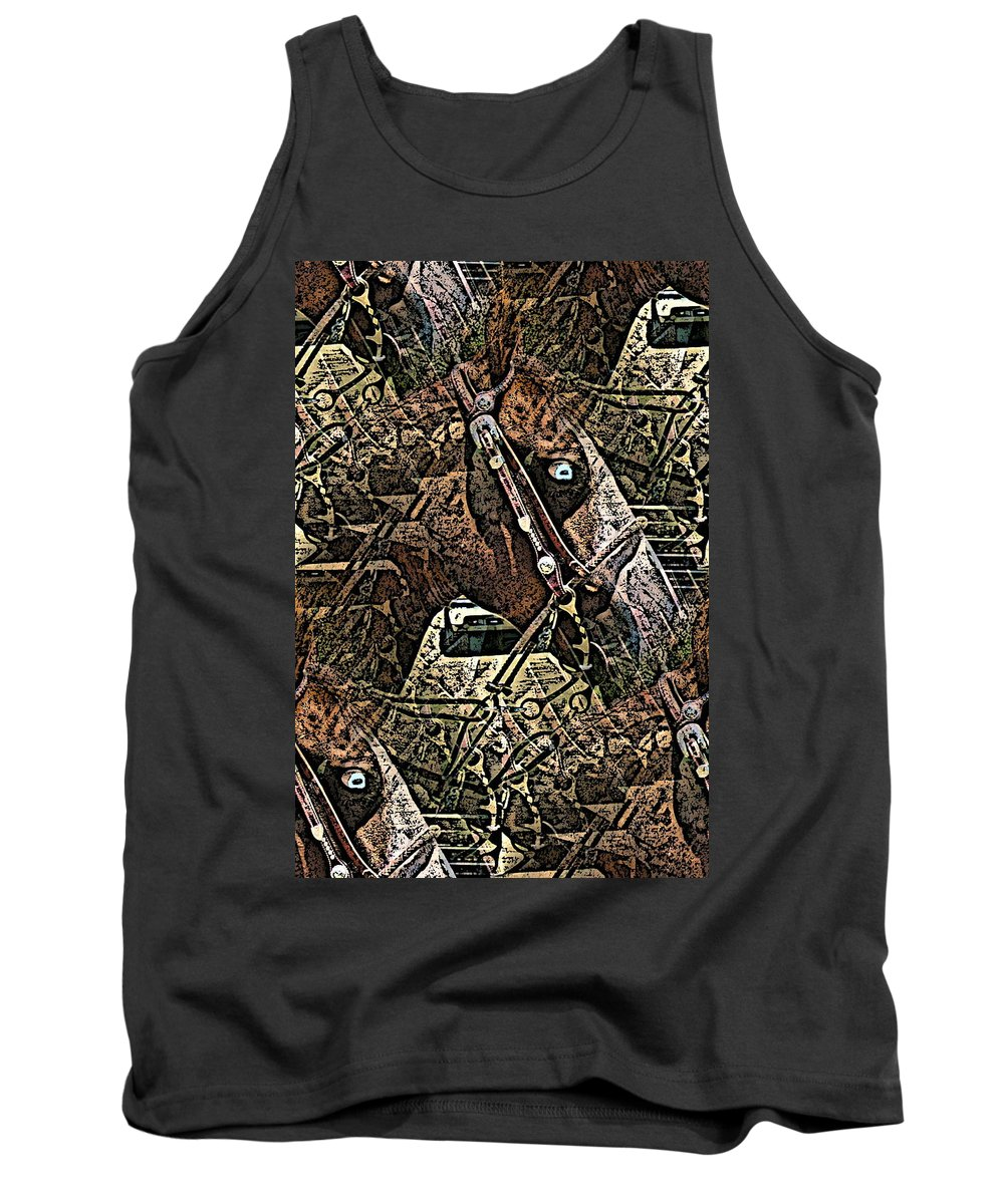 Horse Tank Top featuring the photograph Blue Eyes by Gwyn Newcombe