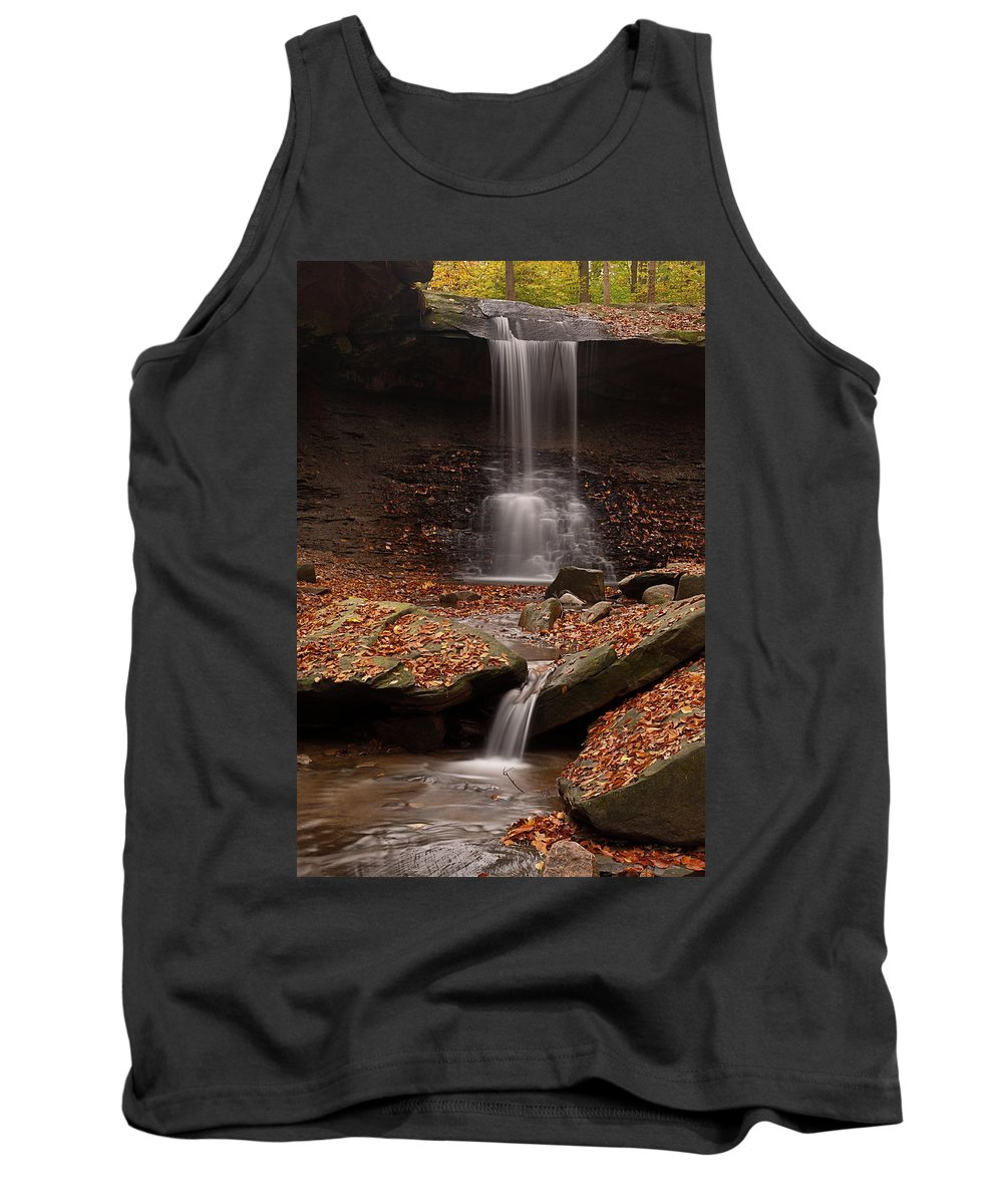 Fall Tank Top featuring the photograph Blue Hen Falls And Cascade by TM Schultze