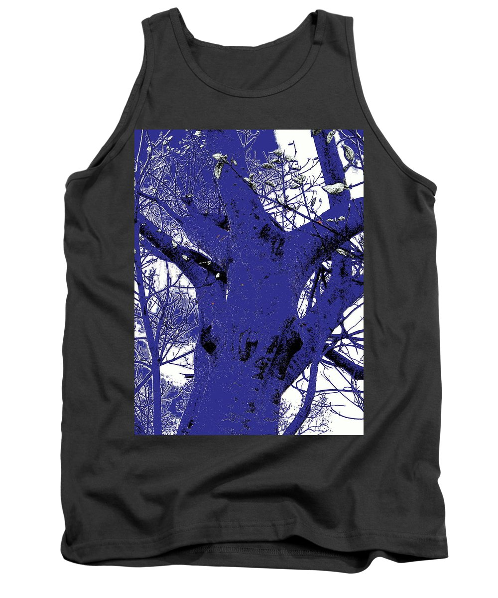Landscape Tank Top featuring the photograph Blue Ice by Ed Smith
