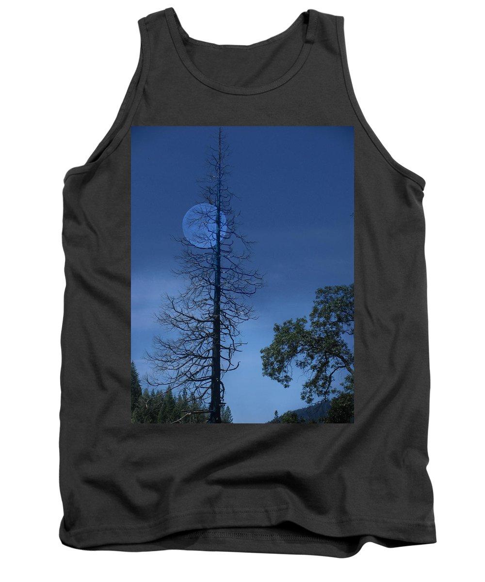 Landscape Tank Top featuring the photograph Blue Moon by Karen W Meyer