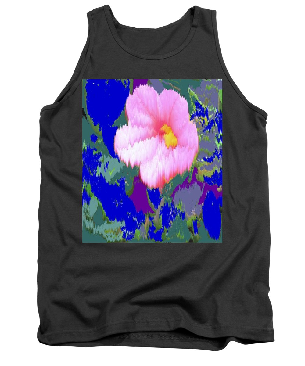 Flower Tank Top featuring the photograph Blue Pink by Ian MacDonald