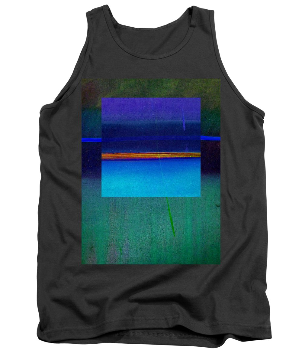 Landscape Tank Top featuring the painting Blue Water by Charles Stuart