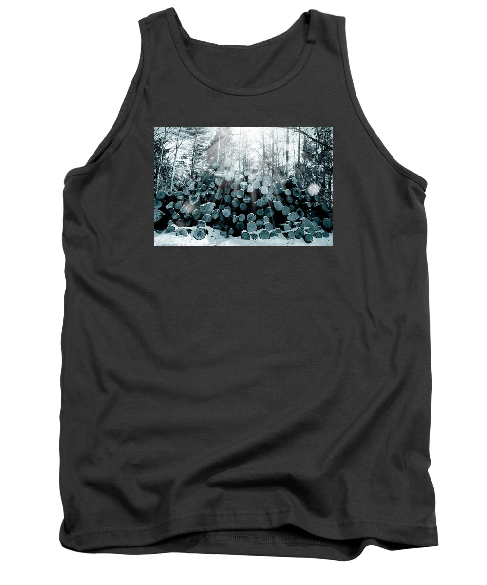 Forest Tank Top featuring the photograph Blue Wood by Mark Ashkenazi