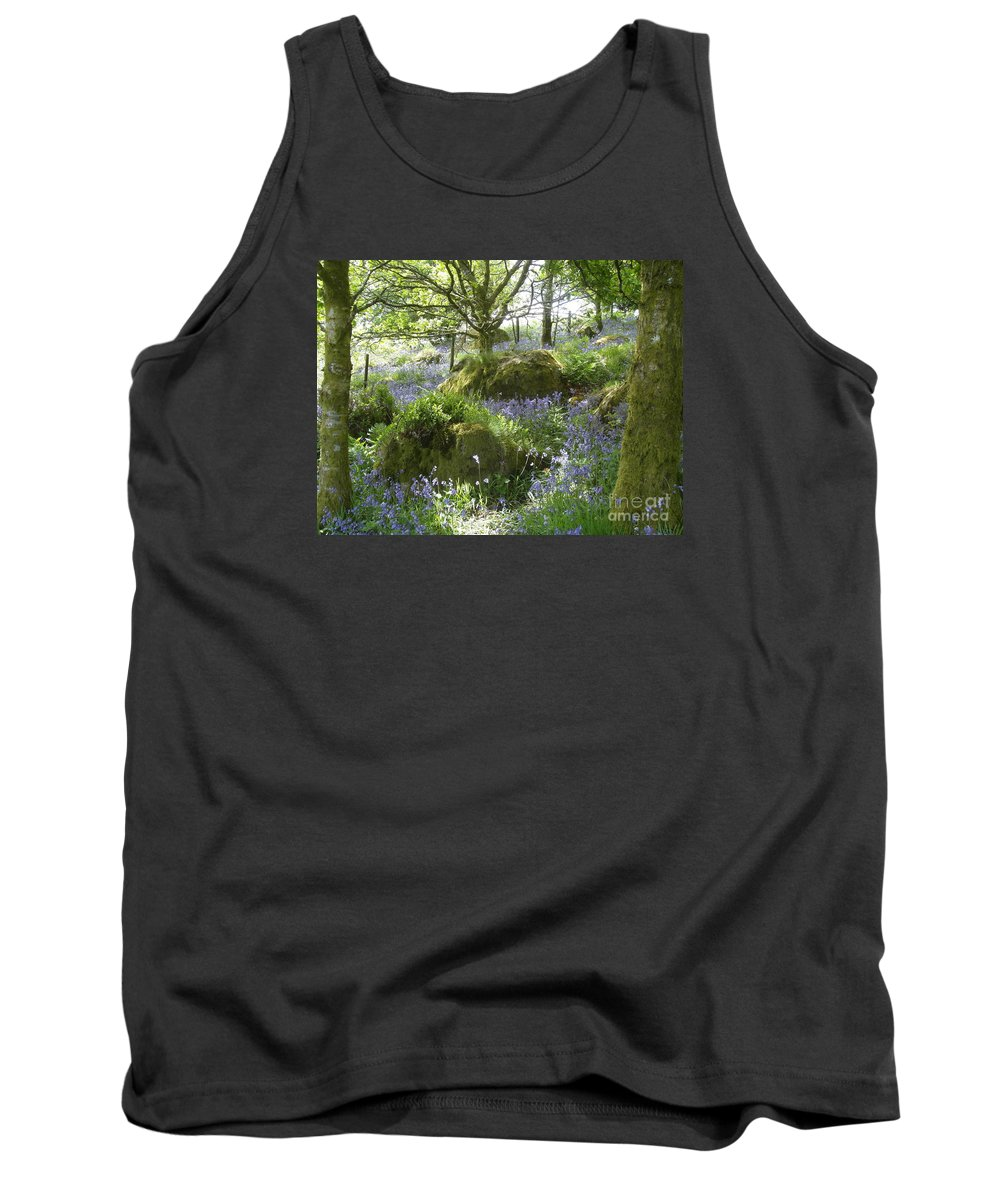 Bluebells Tank Top featuring the photograph Bluebells On Dartmoor by Quintin Rayer