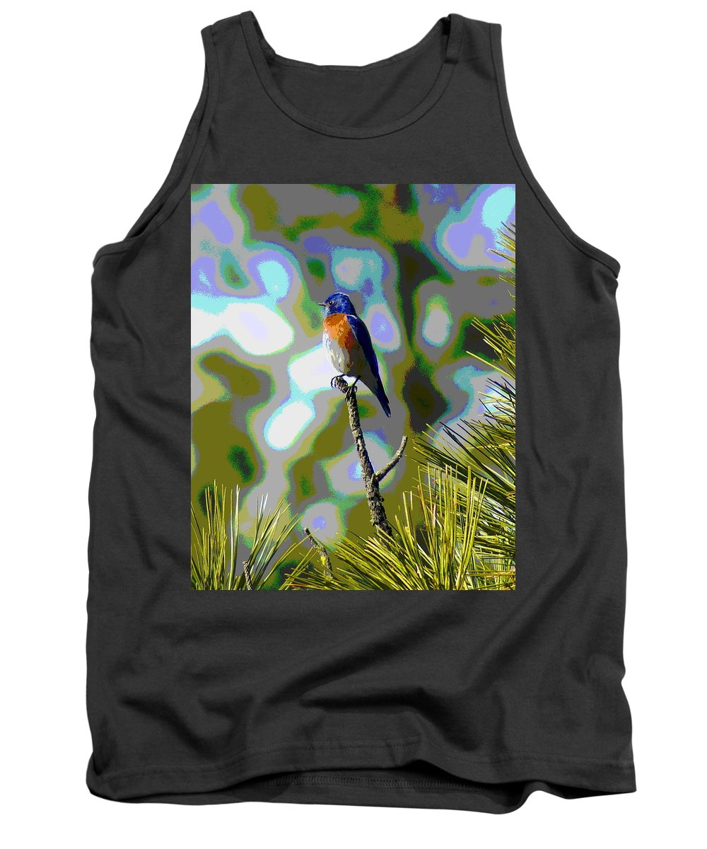Photo Art Tank Top featuring the photograph Bluebird by Ben Upham III
