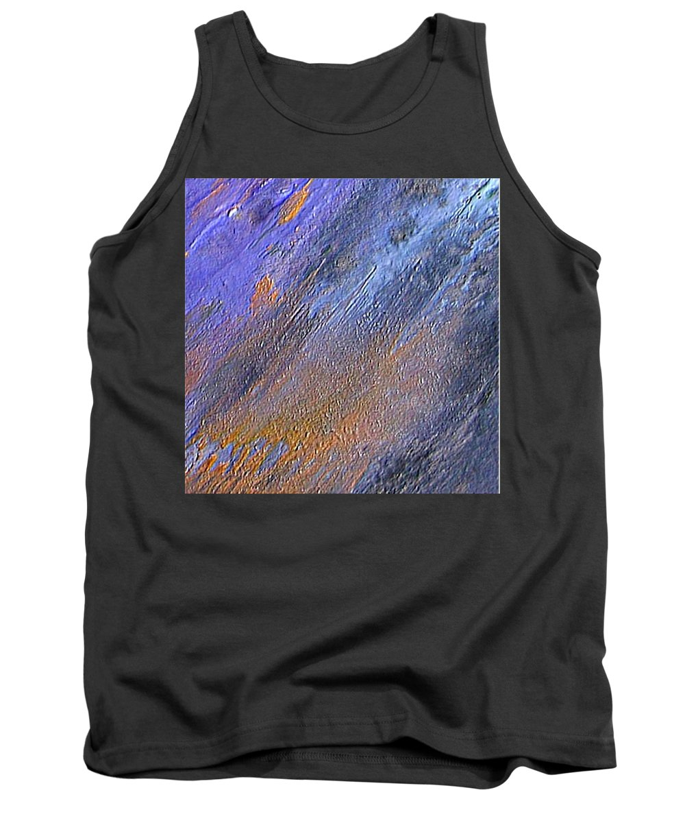 Abstract Tank Top featuring the painting Blueness by Dragica Micki Fortuna