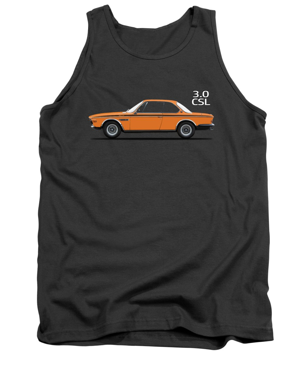 Bmw Csl Tank Top featuring the photograph Bmw Csl 1972 by Mark Rogan