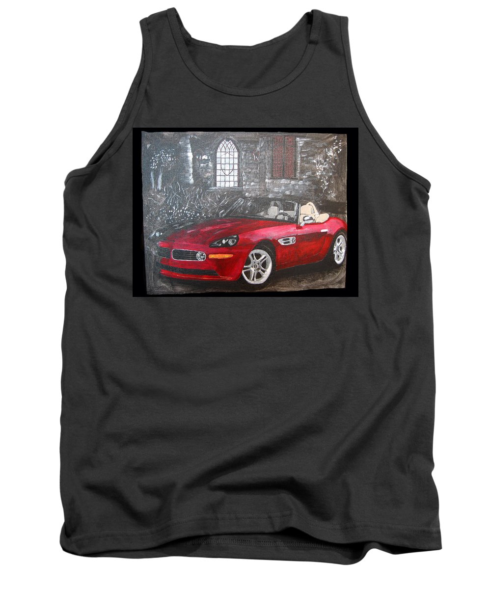 Bmw. Z8 Tank Top featuring the painting Bmw Z8 by Richard Le Page
