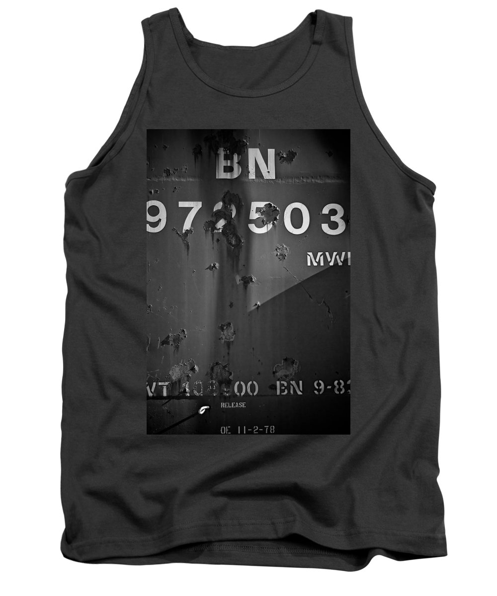 Black And White Photograph Tank Top featuring the photograph Bn 972503 by Mike Oistad