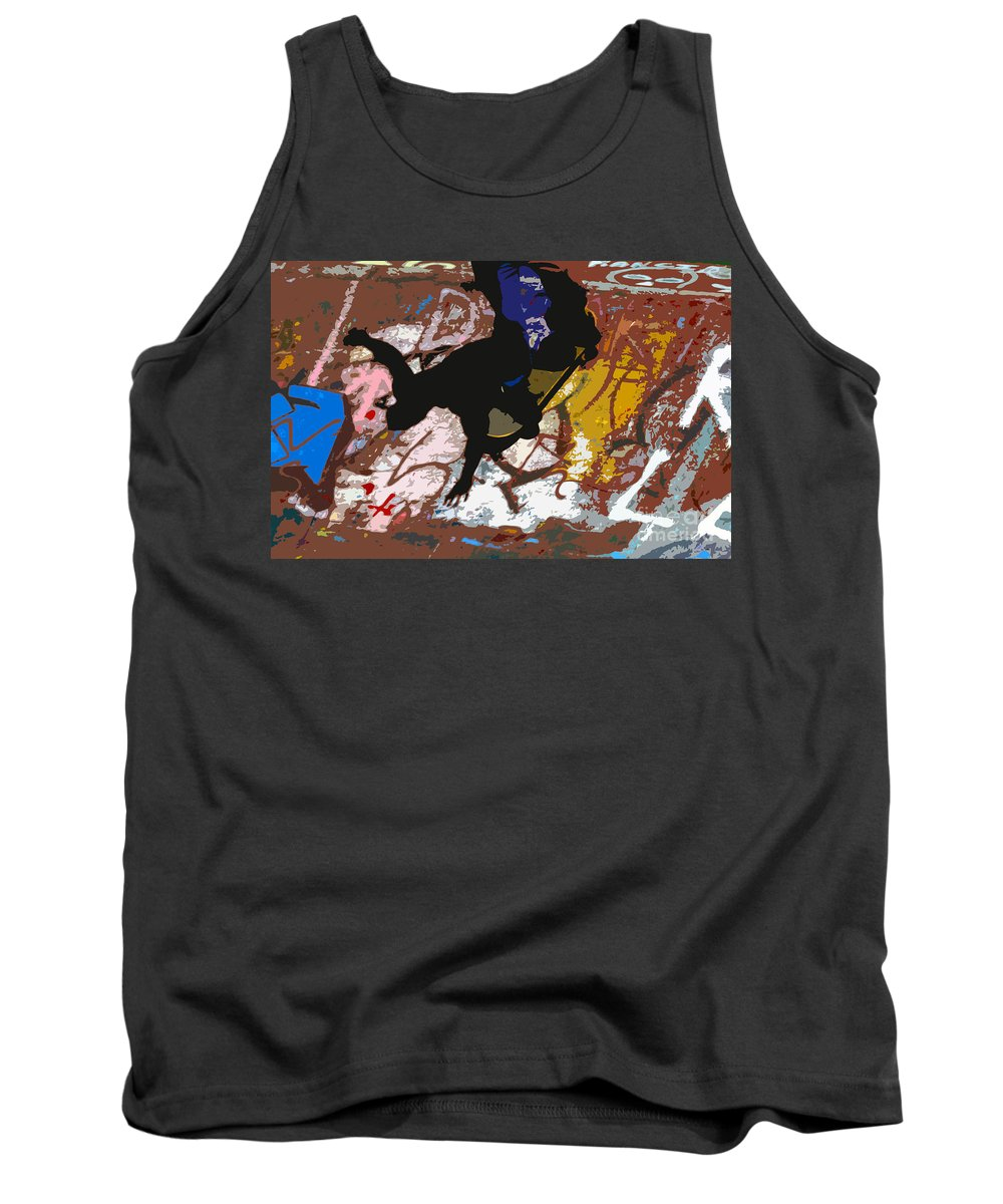 Skate Board Tank Top featuring the photograph Boarding High by David Lee Thompson
