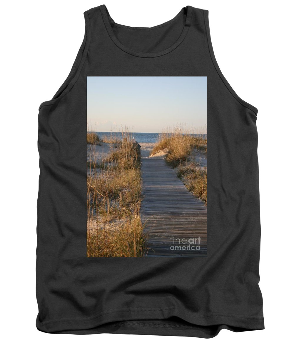 Boardwalk Tank Top featuring the photograph Boardwalk To The Beach by Nadine Rippelmeyer