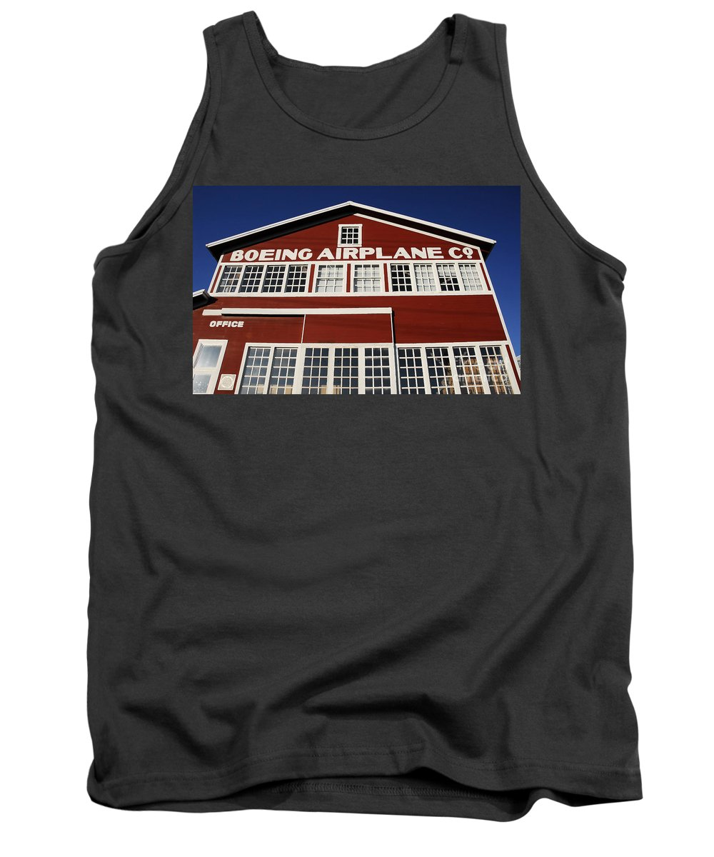 Boeing Tank Top featuring the photograph Boeing Airplane Hanger Number One by David Lee Thompson