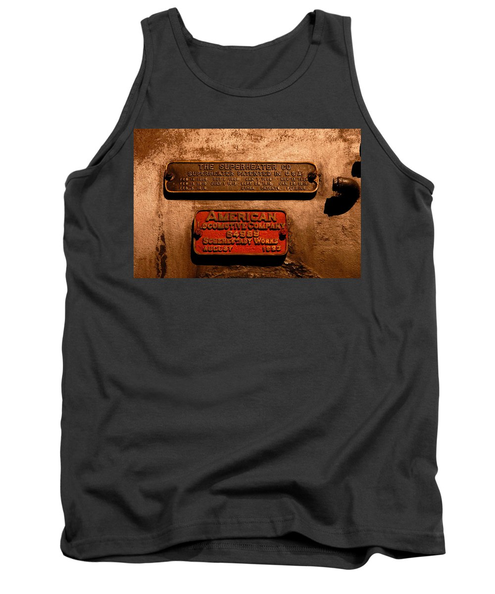 Boilerplate Plate Tank Top featuring the photograph Boilerplates by David Lee Thompson