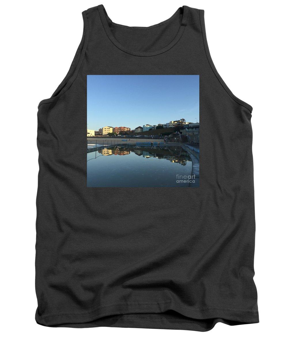 Bondi Tank Top featuring the photograph Bondi Wading Pool Reflections by Jen Petrie