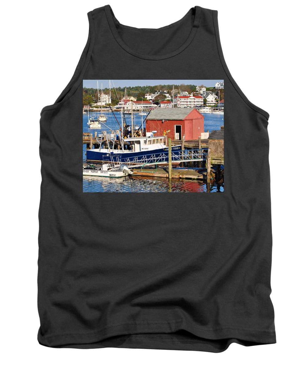 Boothbay Tank Top featuring the photograph Boothbay by Scott Coleman