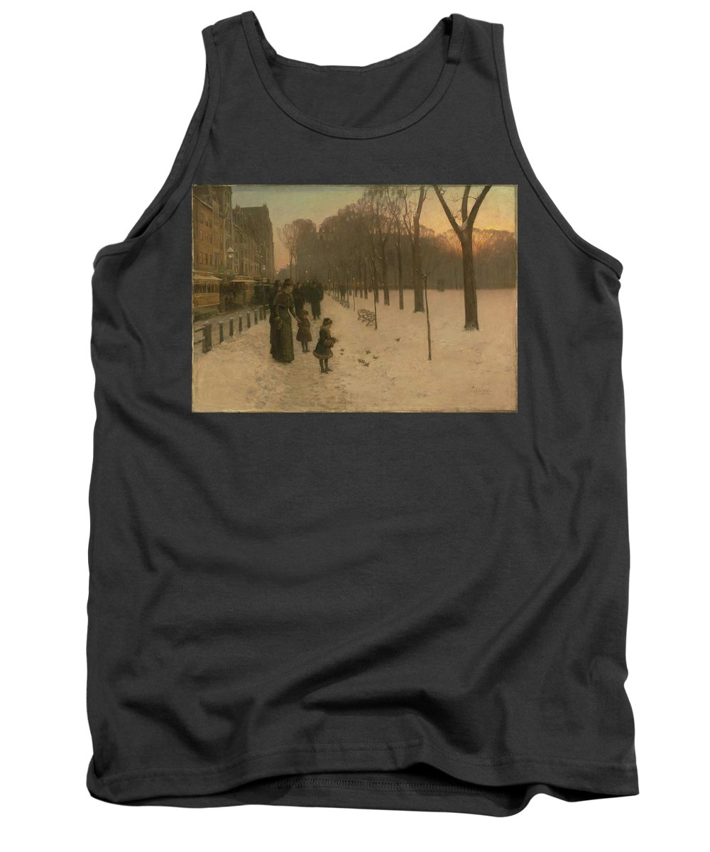 At Dusk (boston Common At Twilight) 1885�86 Childe Hassam (american Tank Top featuring the painting Boston Common At Twilight by Childe Hassam