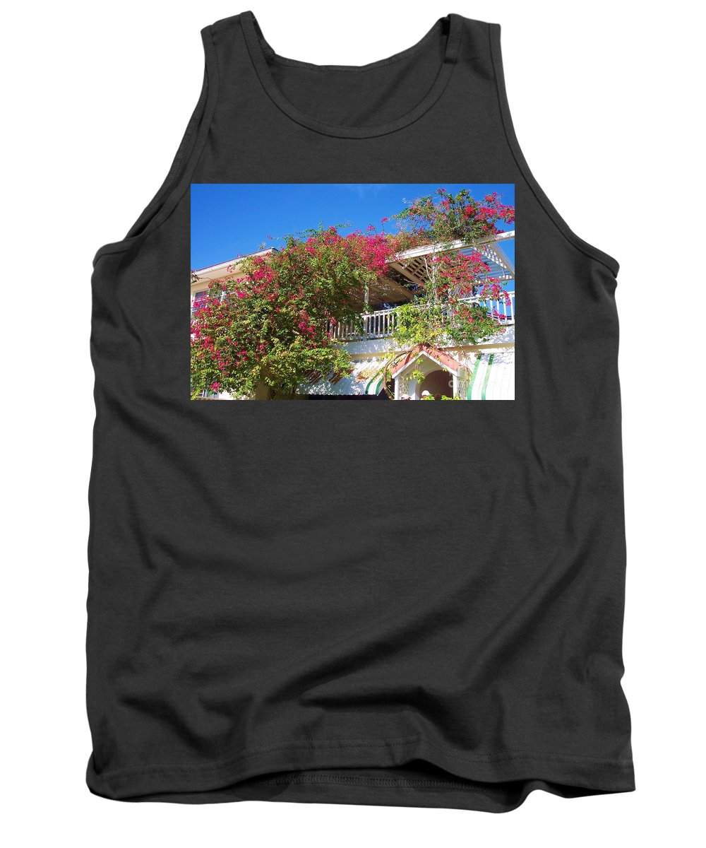 Flowers Tank Top featuring the photograph Bougainvillea Villa by Debbi Granruth
