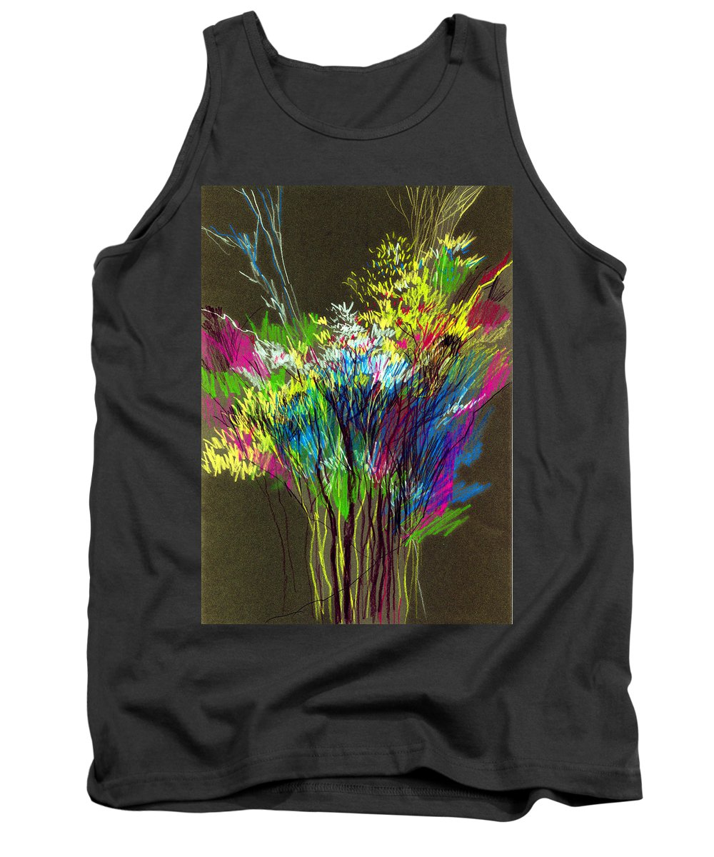 Flowers Tank Top featuring the painting Bouquet by Anil Nene