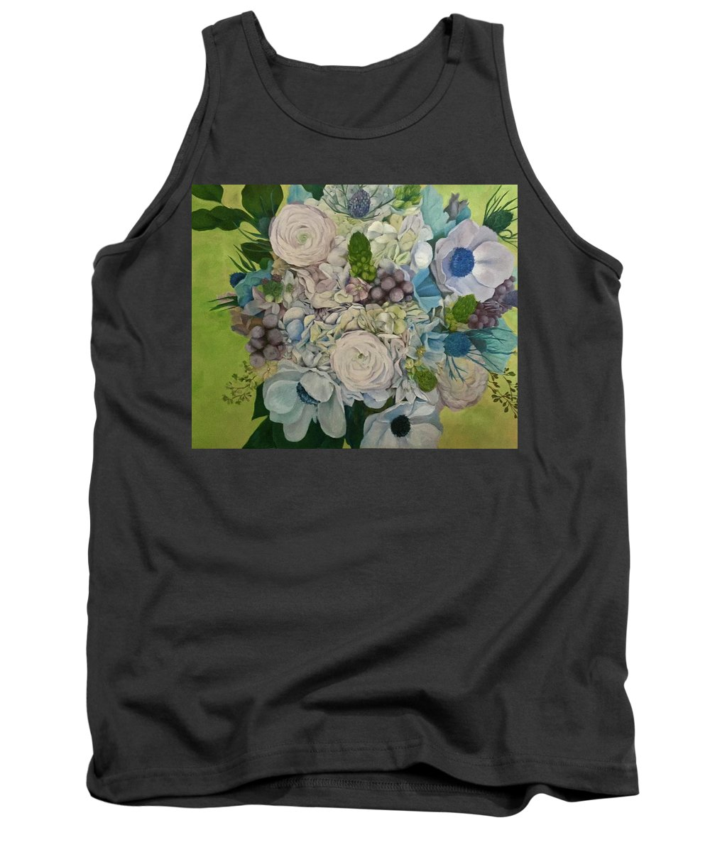 Bouquet Tank Top featuring the painting Bouquet Of Love by Dani Altieri Marinucci