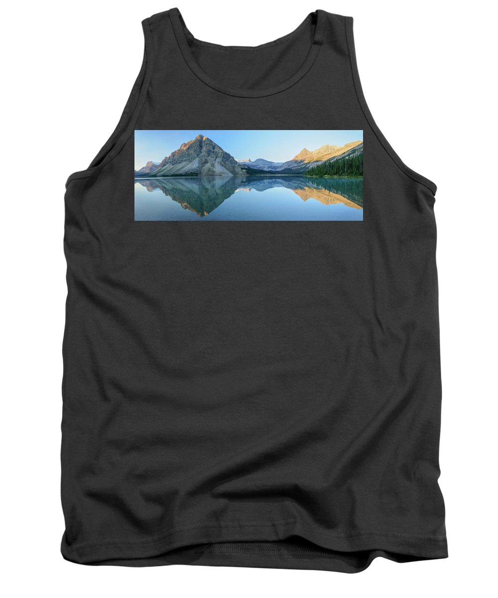 North America Tank Top featuring the photograph Bow Lake Panorama by Christian Heeb