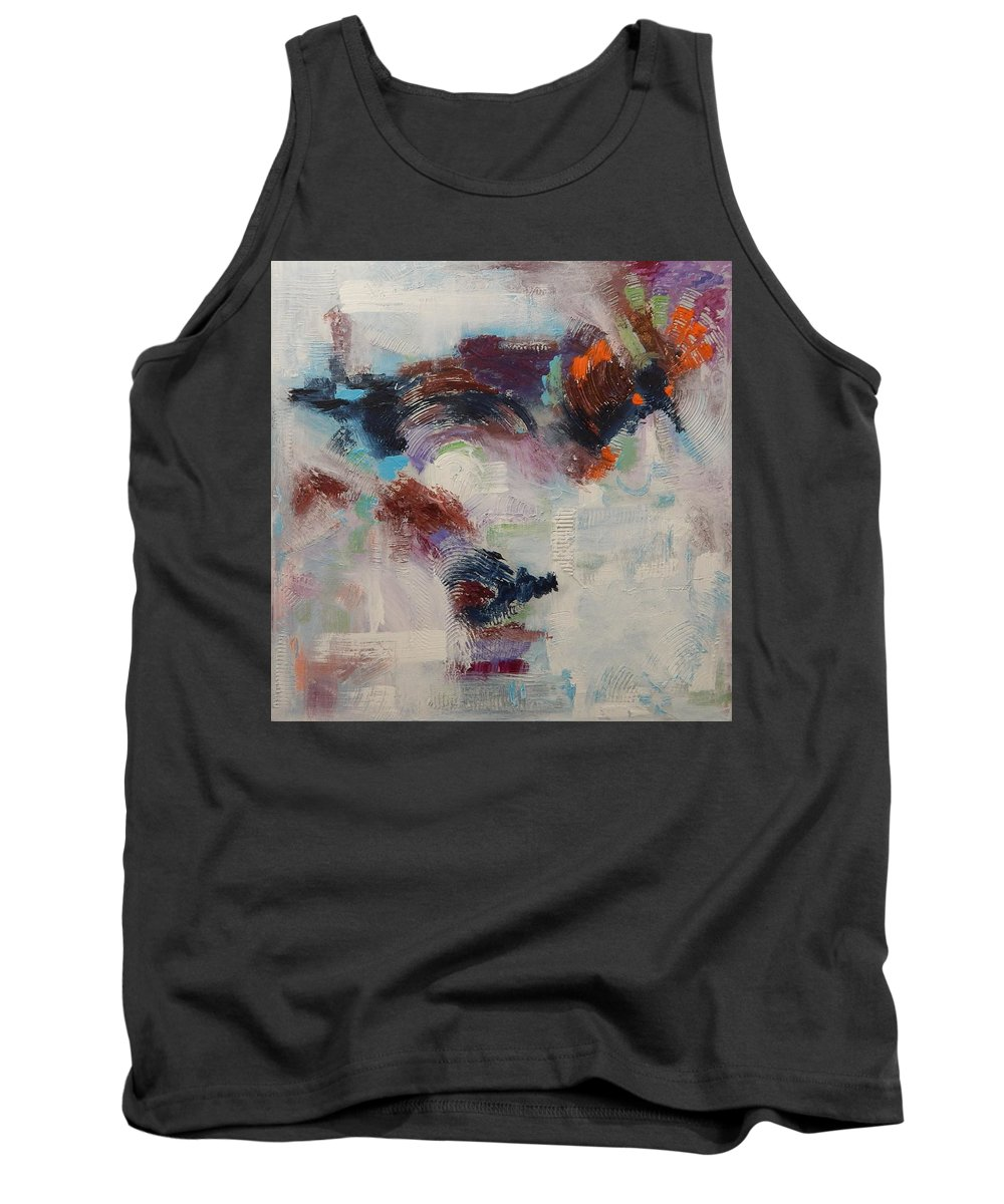Abstract Tank Top featuring the painting Brand New Vision by Sue Furrow