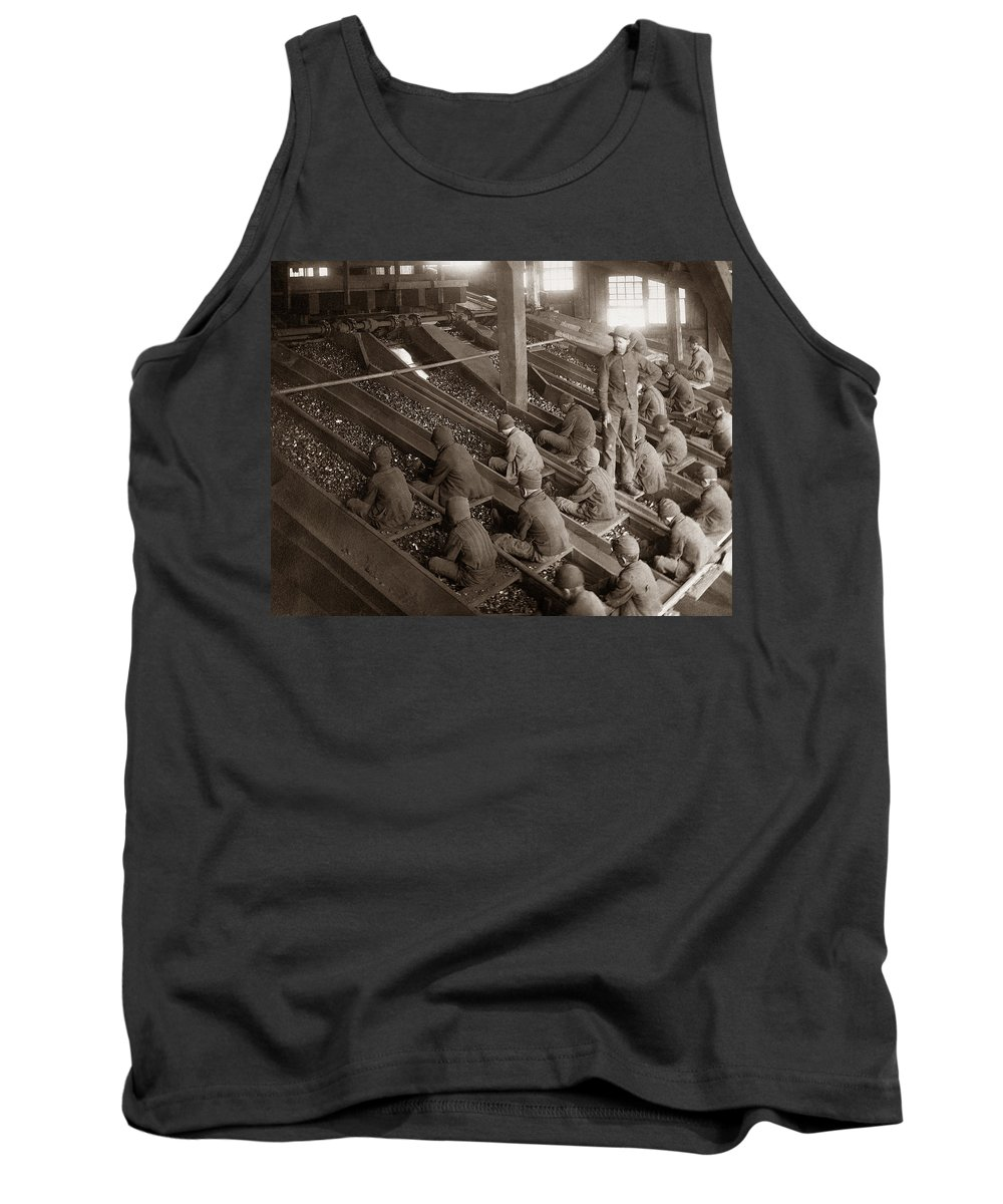 Breaker Boys Tank Top featuring the photograph Breaker Boys Lehigh Valley Coal Co Maltby Pa Near Swoyersville Pa Early 1900s by Arthur Miller