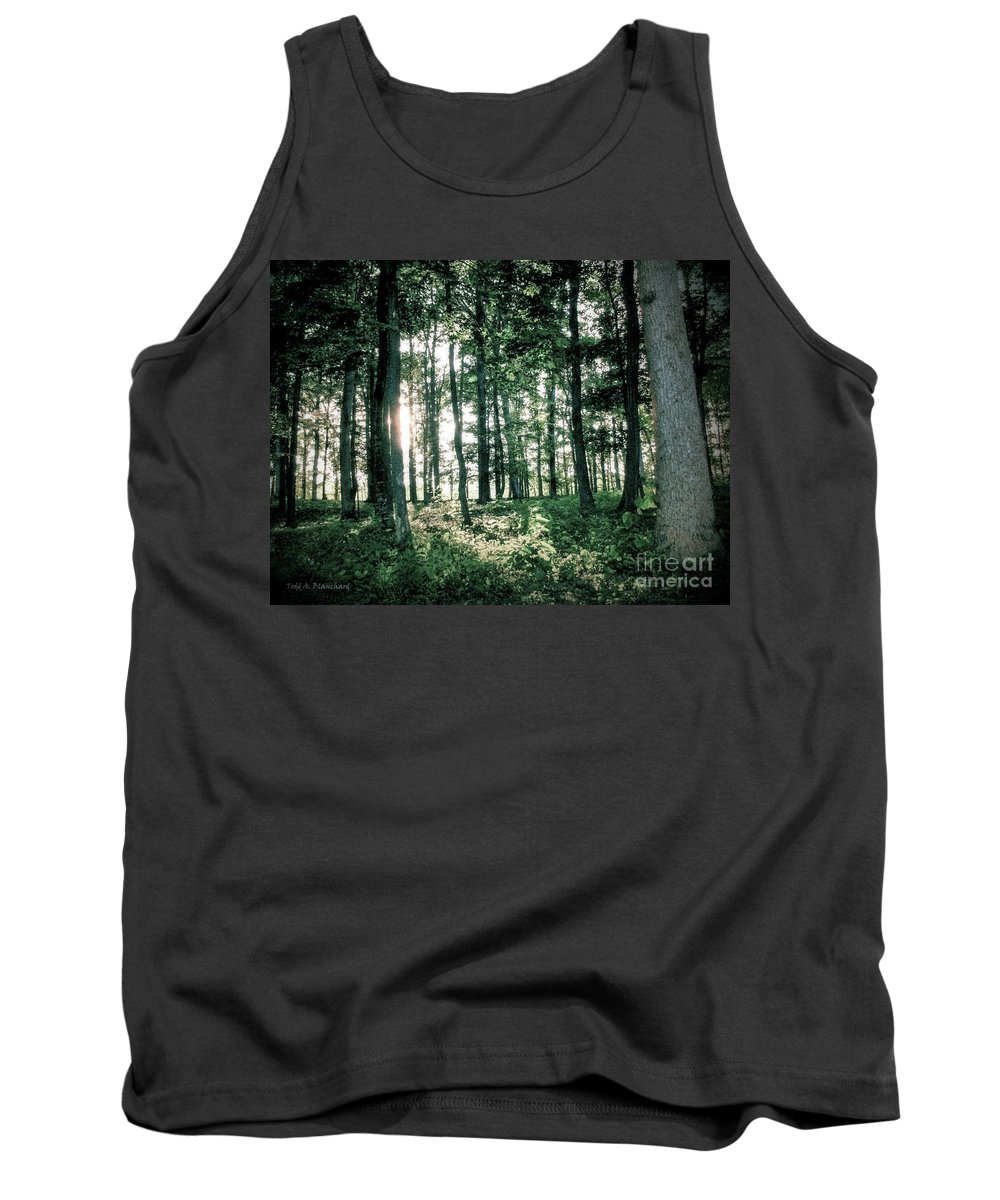 Forest Tank Top featuring the photograph Breaking Through by Todd A Blanchard