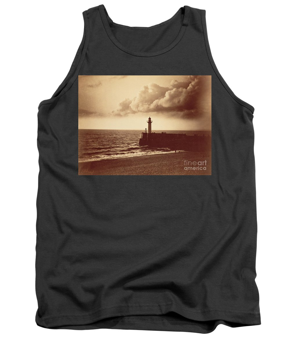 Old Tank Top featuring the photograph Breakwater At Sete by Gustave Le Gray