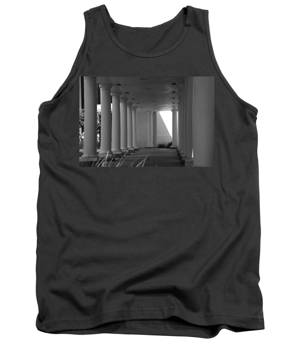 Black And White Tank Top featuring the photograph Breezeway by Rob Hans