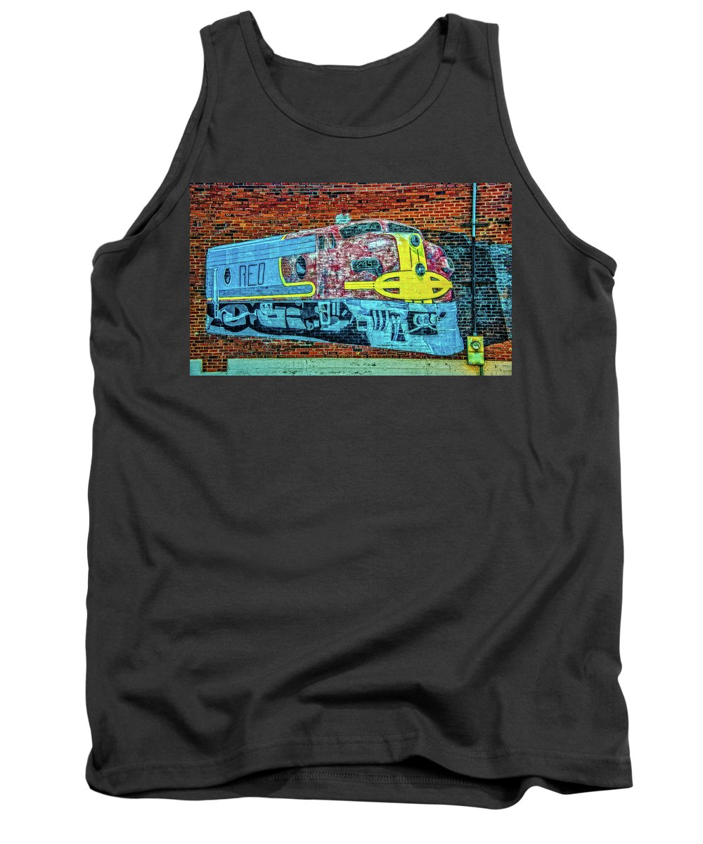 Train Tank Top featuring the photograph Brick Train by Ed Broberg