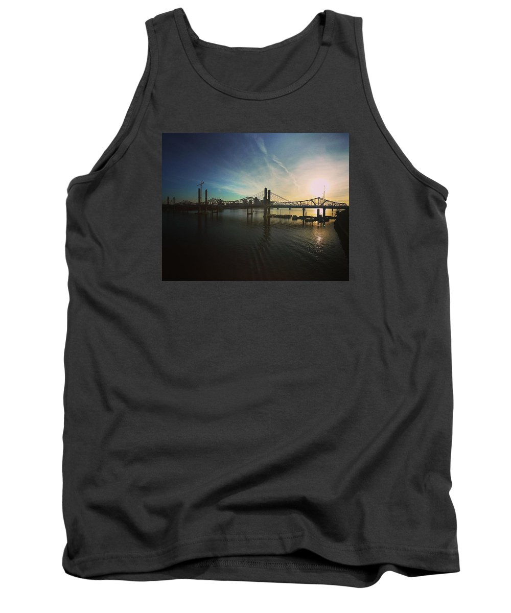 Panorama Tank Top featuring the photograph Bridge And Colors by Danielle Attanasio