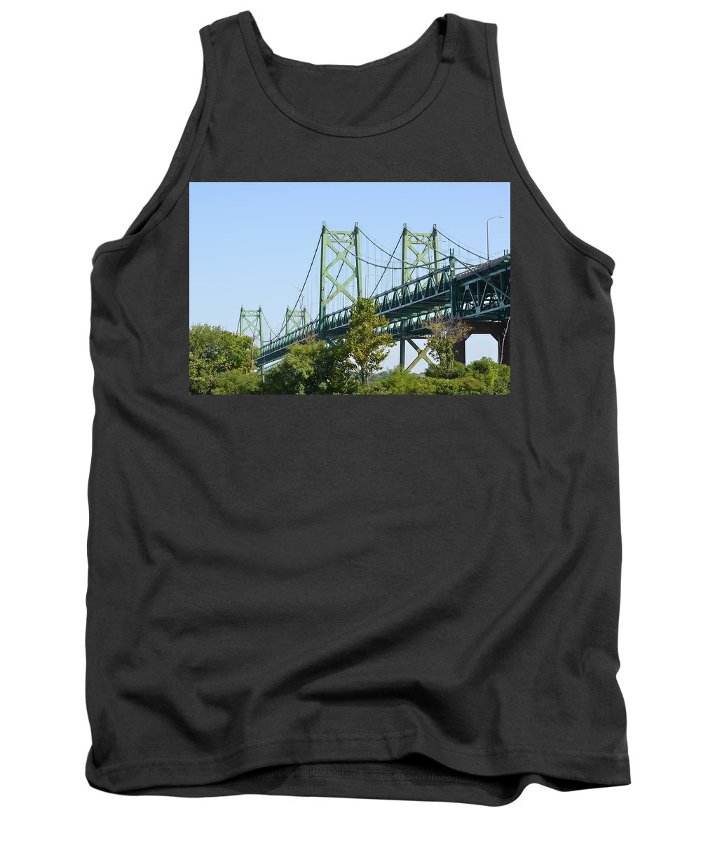 I-74 Bridge Tank Top featuring the photograph Bridging The Quads by Tammy Mutka